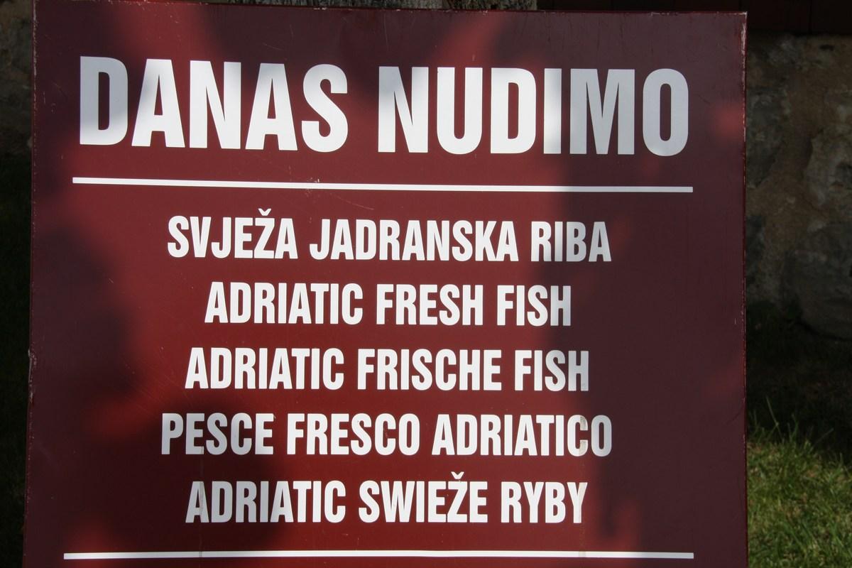 Sveže ribe so najboljše.