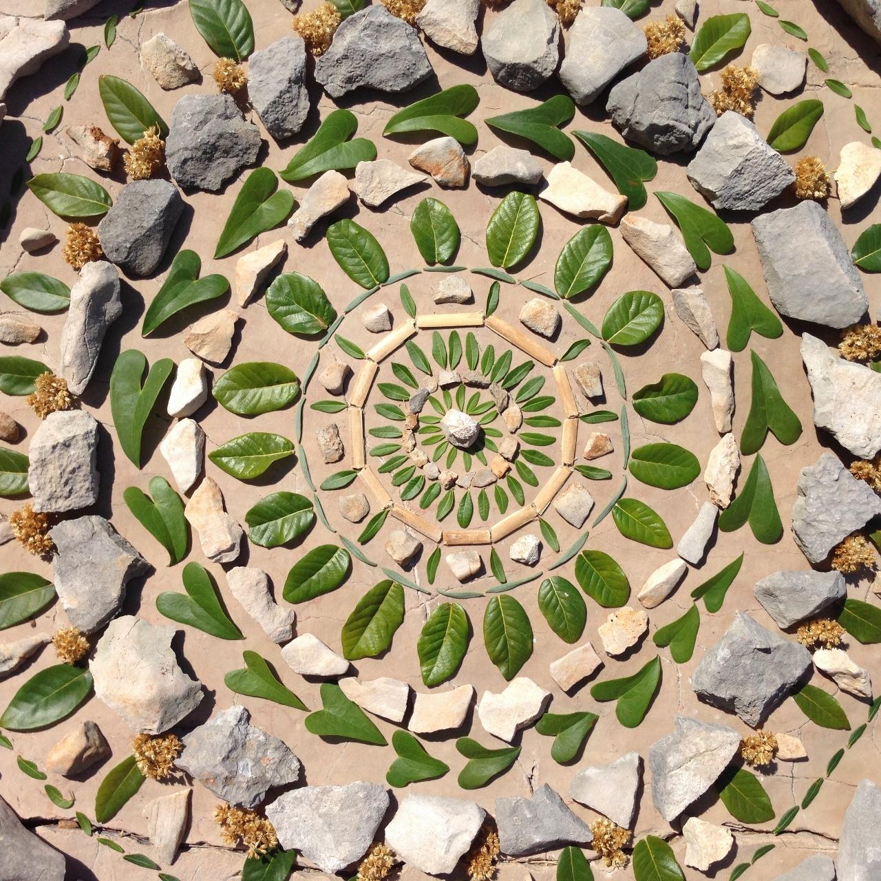 Kamen in list - mandala