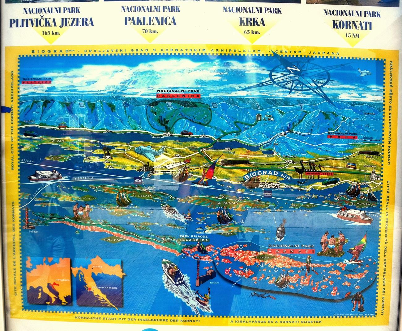Biograd na moru je odlično izhodišče za obiskovanje nacionalnih parkov.