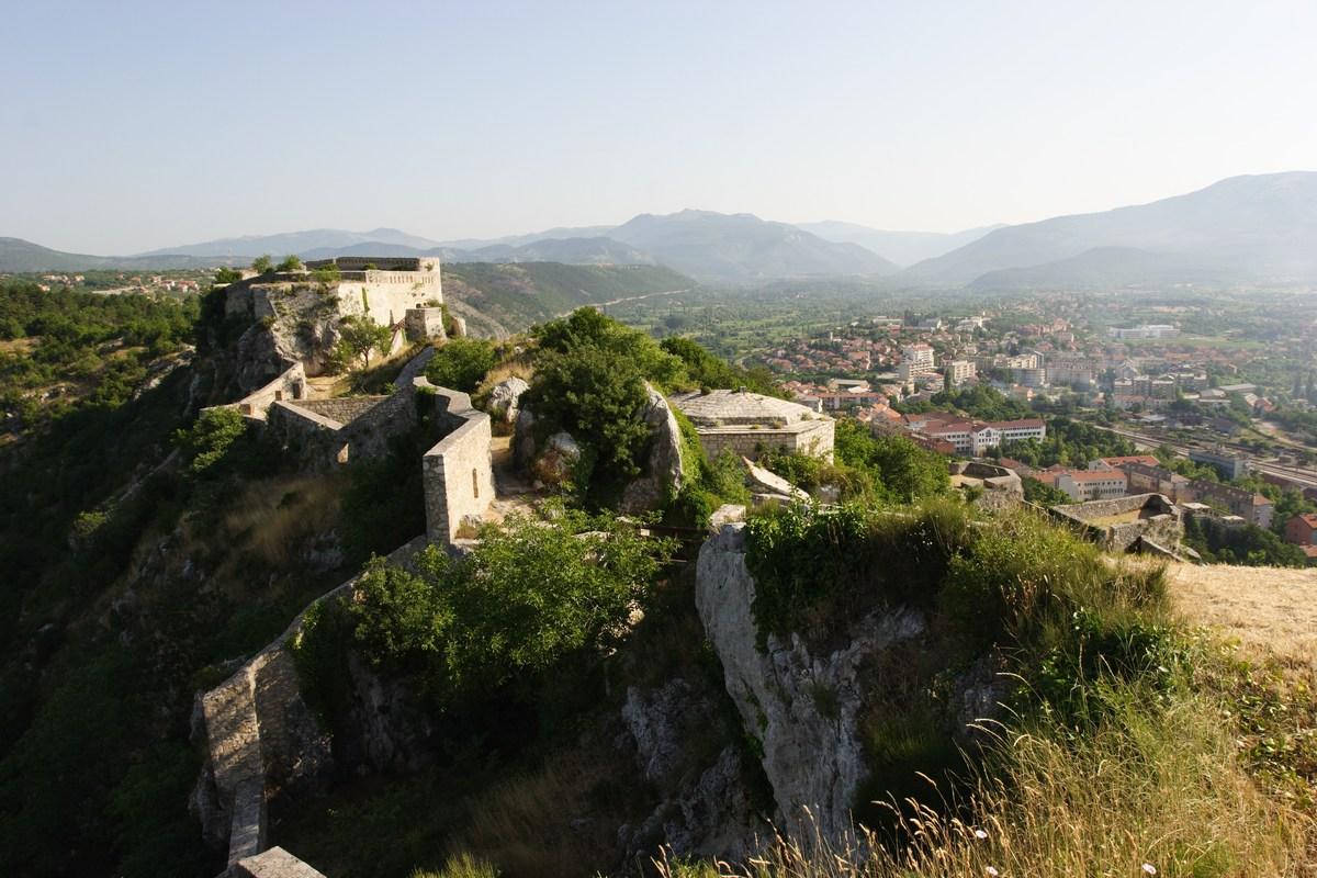 Lepo vidno mesto pod trdnjavo