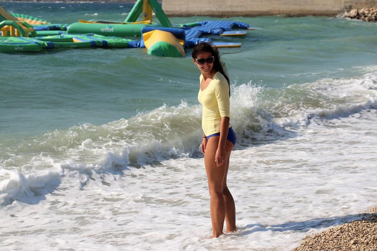 Uživanje med valovi