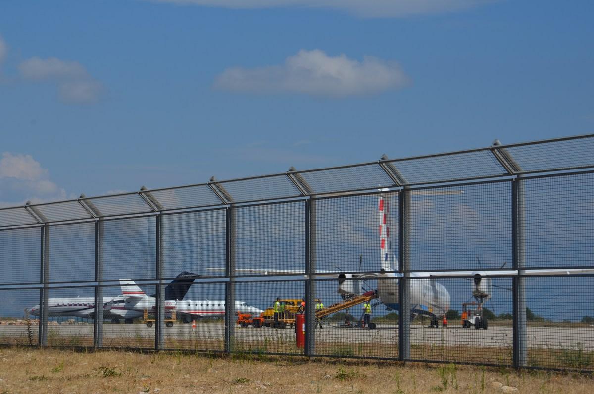 Letala na letališču