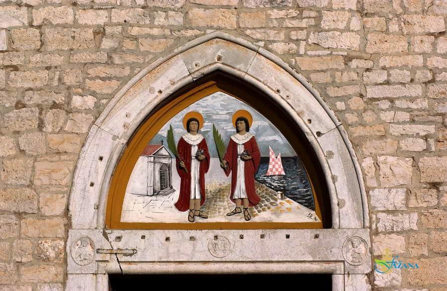 Sveti Kuzma in Damjan na župnijski cerkvi