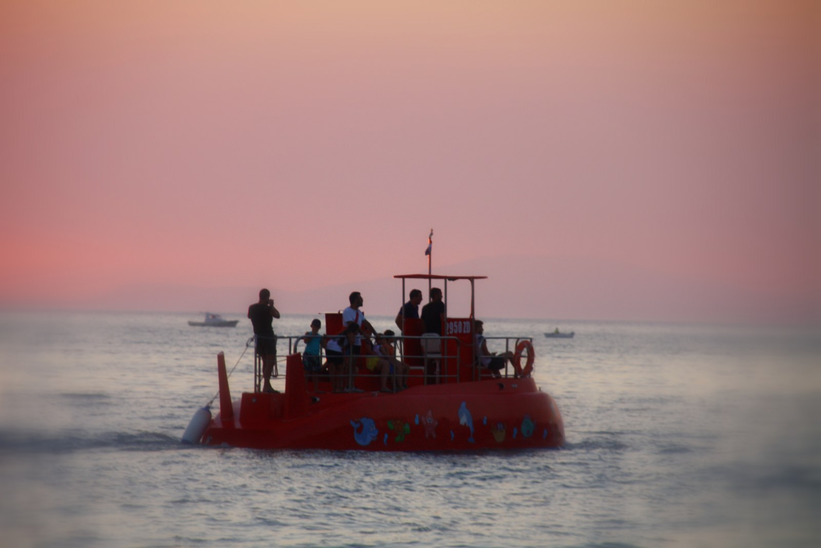 Možna je tudi nočna vožnja, kjer si podvodno življenje ogledate s pomočjo reflektorjev.