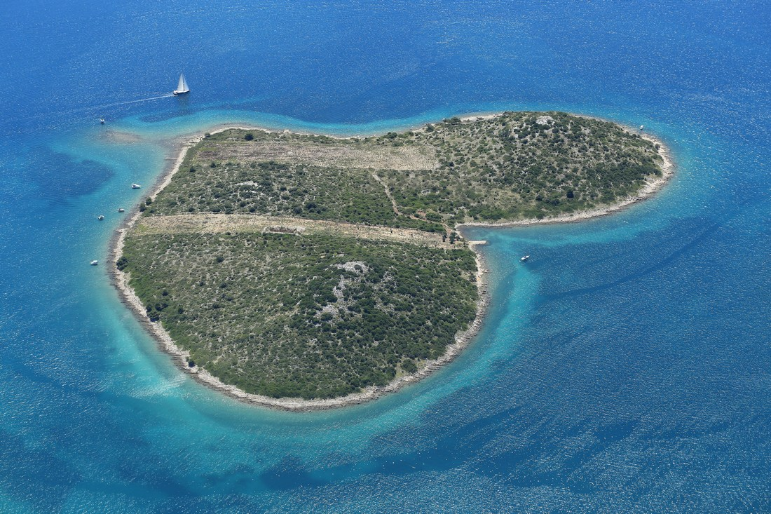 Galešnjak – otok ljubezni na Hrvaškem