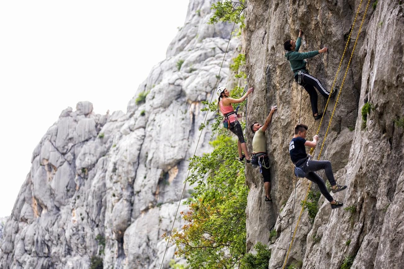 NP Paklenica je plezalni raj