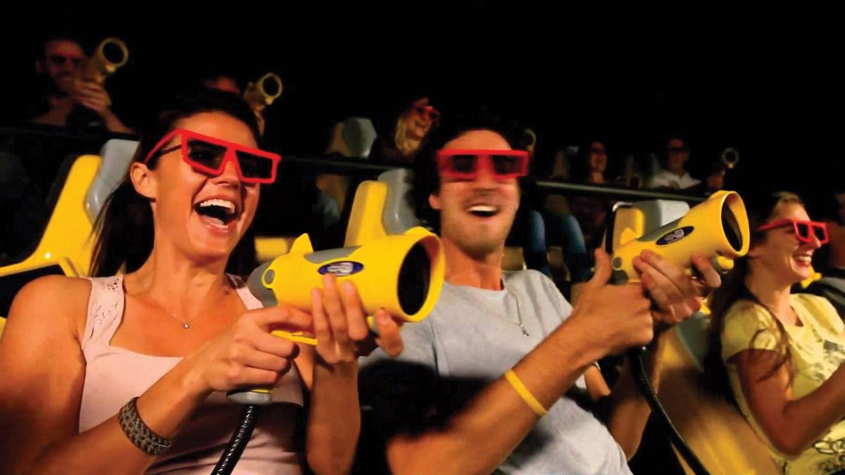 7D kino oziroma virtualna vožnja XD Dark Ride