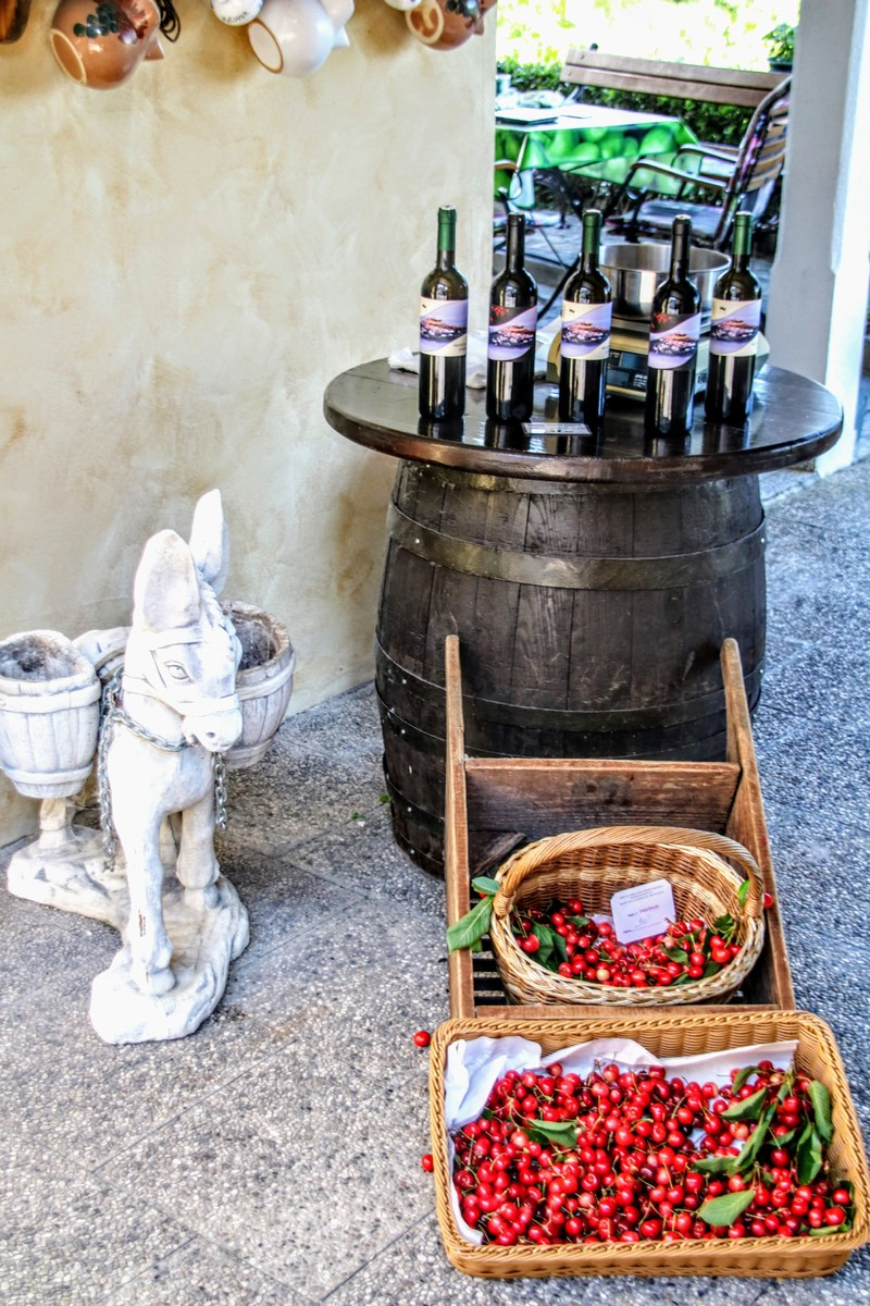 Češnje in vino