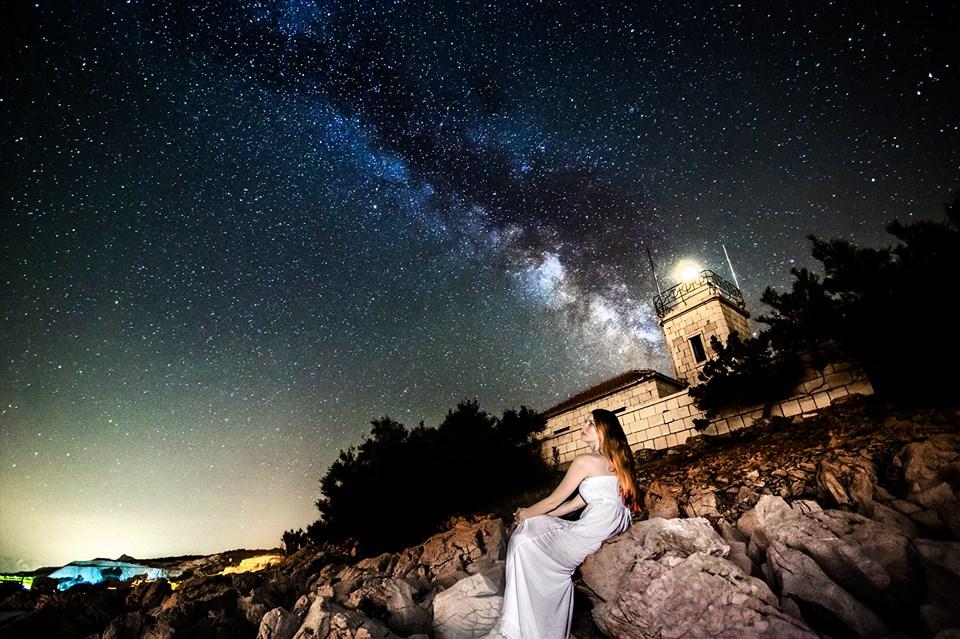 Svetilnik sv. Nikola v Pučišćih, otok Brač.