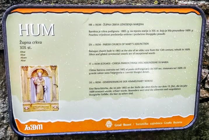 Tabla župnijske cerkve