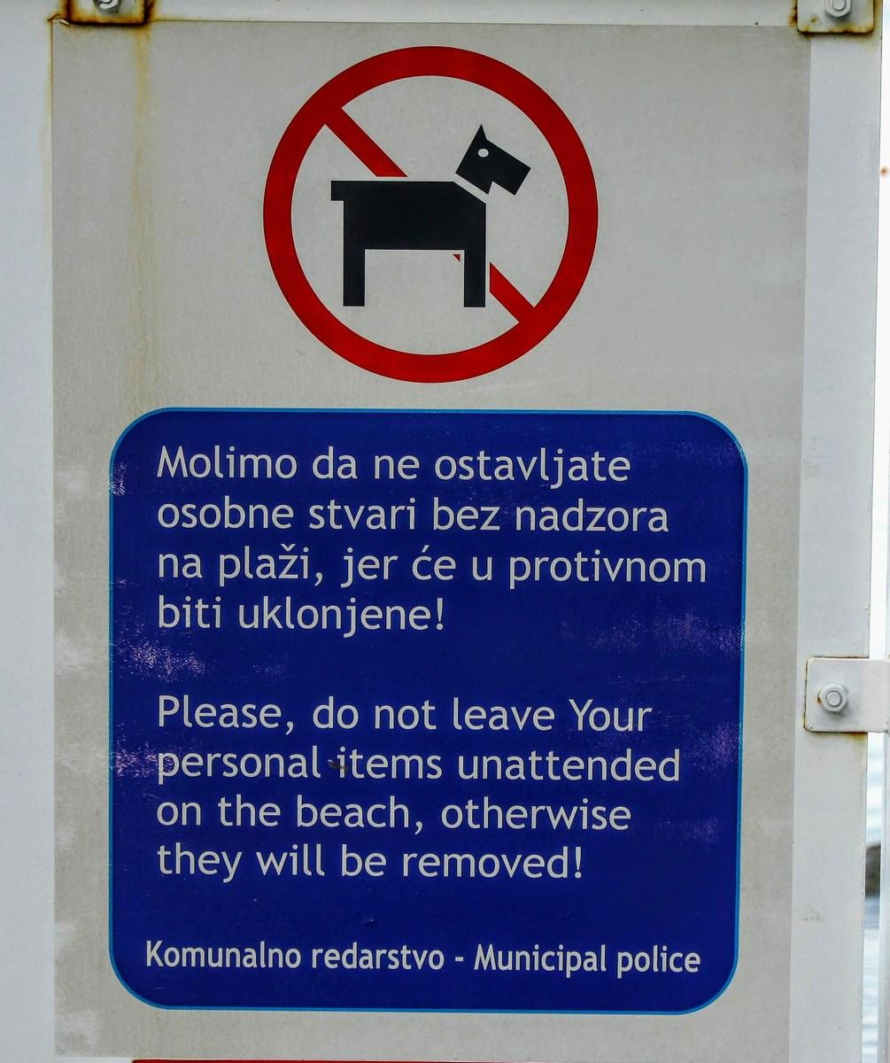 Žal, tudi v Podgori niso ravno ljubitelji psov