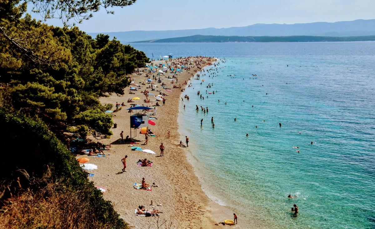 Klasičen pogled na plažo