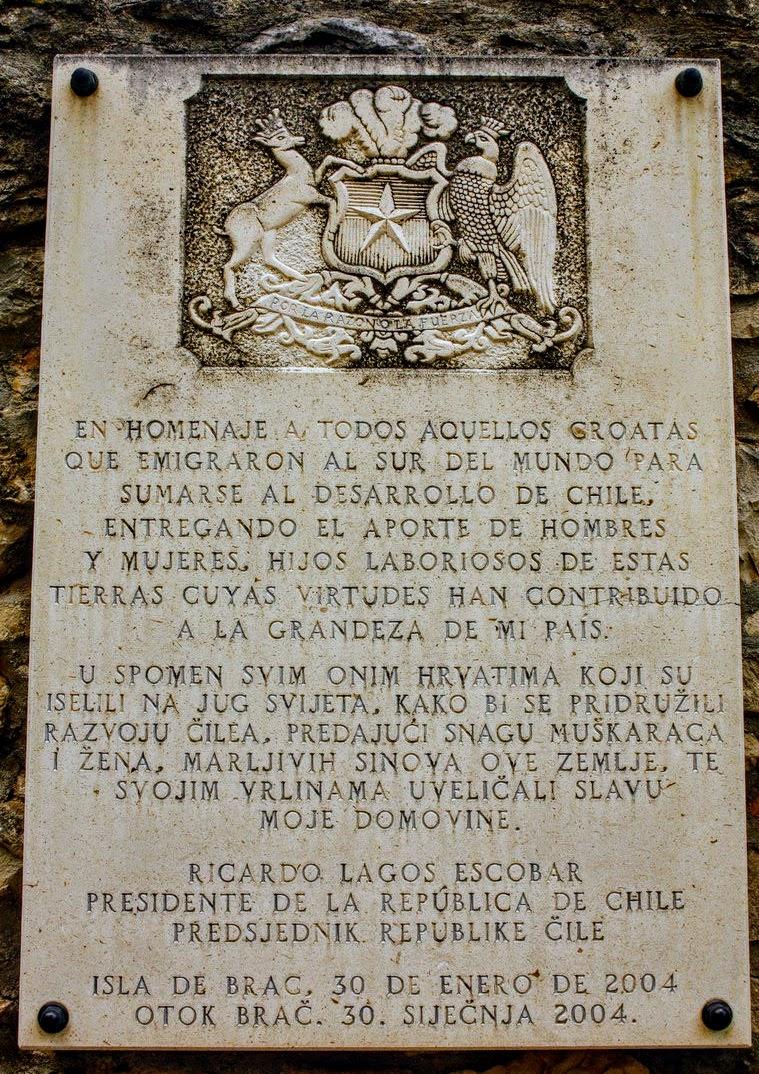 Prebivalci Brača so se nekoč masovno izseljevali, tudi v Čile