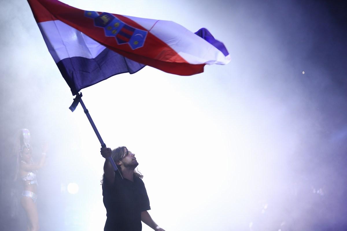 Hrvaška zastava na Ultri Europe