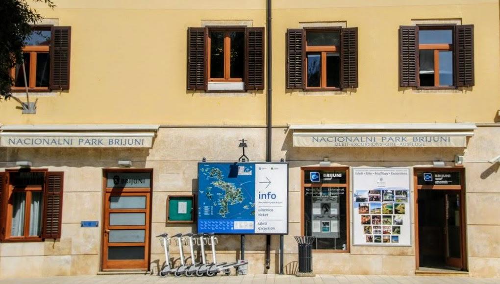 NP Brioni, pisarna v Fažani