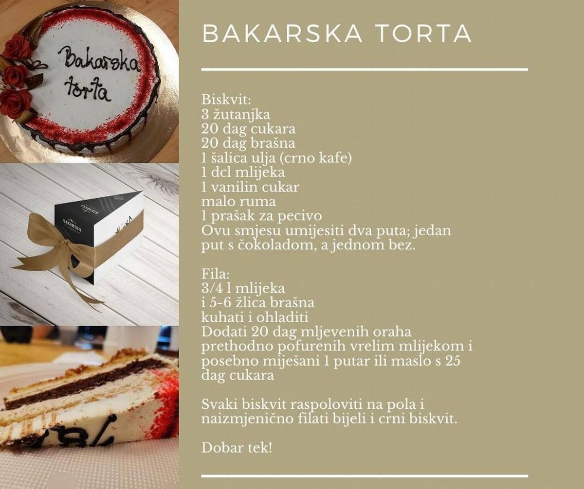 Recept Bakarska torta, foto TZ Bakar