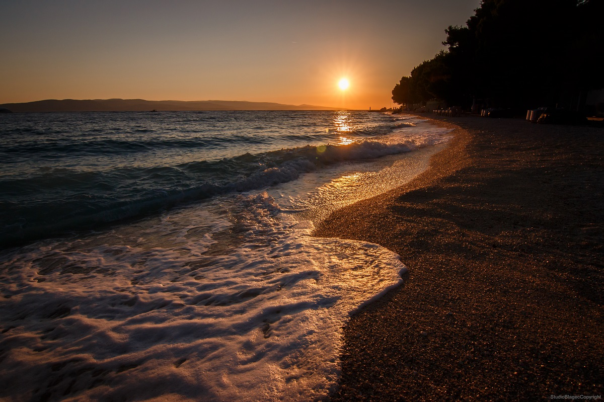 Sončni zahod na plaži