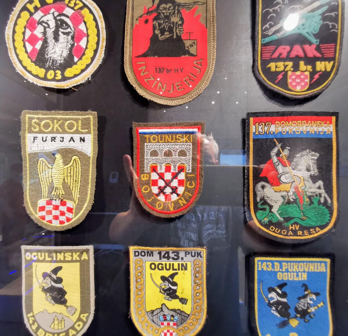 Emblemi nekaterih hrvaških vojaških enot