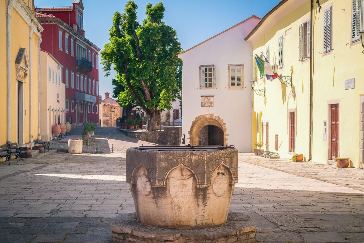 Okno bunara iz 15. stoljeća na Trgu Andrea Antico