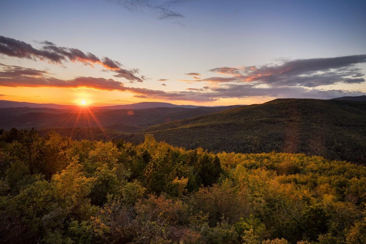 Sončni zahod, Papuk