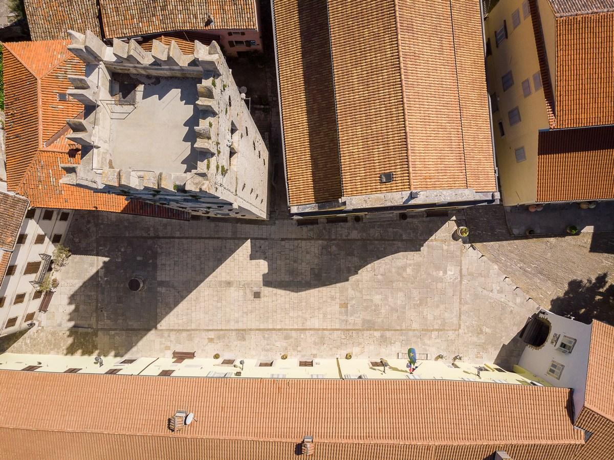 Trg Andrea Antico iz zraka