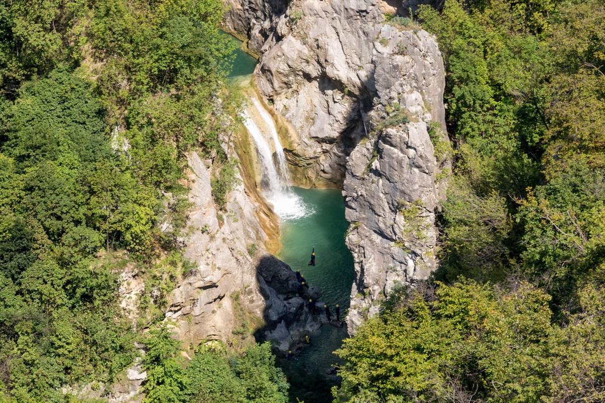 Kanjoning na reki Cetini, foto TZ Omiš