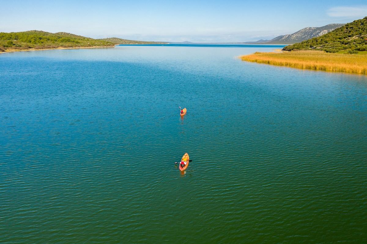 Kajaking, Vransko jezero, foto Goran Šafarek