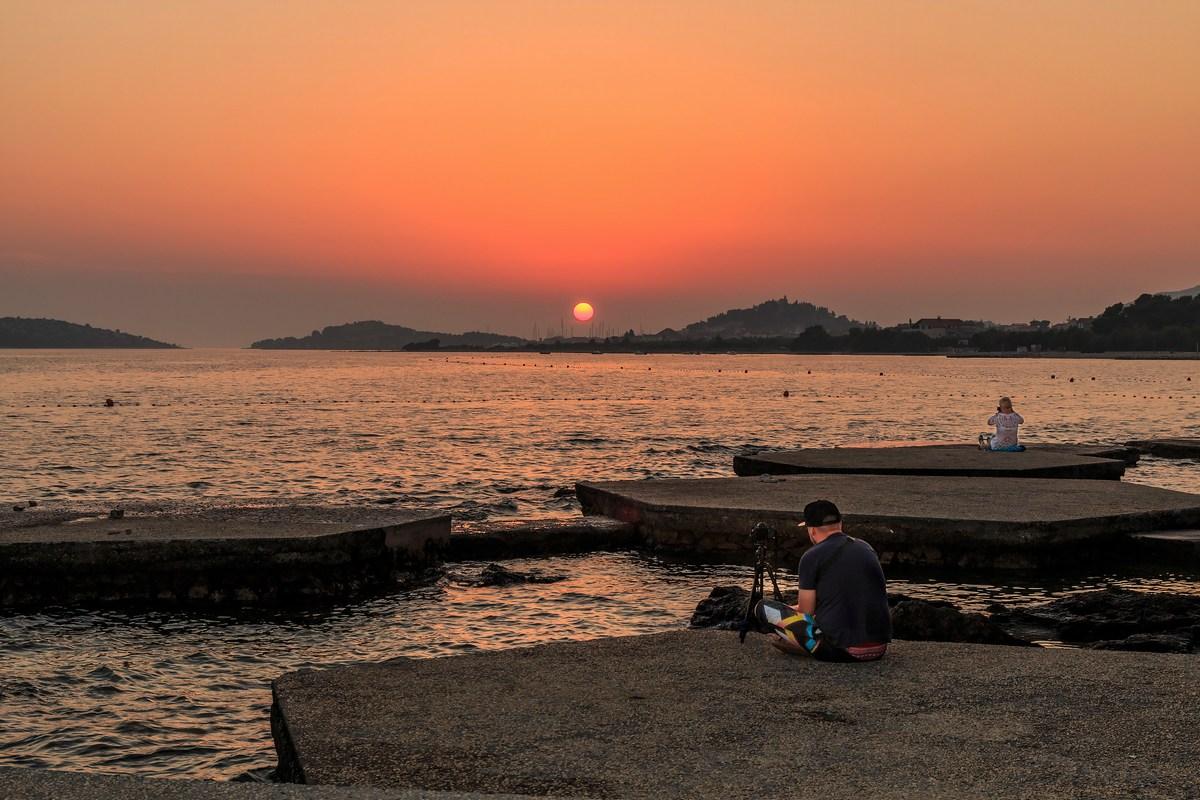 Fotografiranje sončnega zahoda, foto Andrija Carli