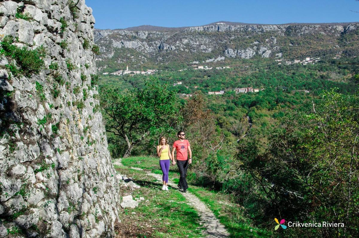 In love in Crikvenica, walk