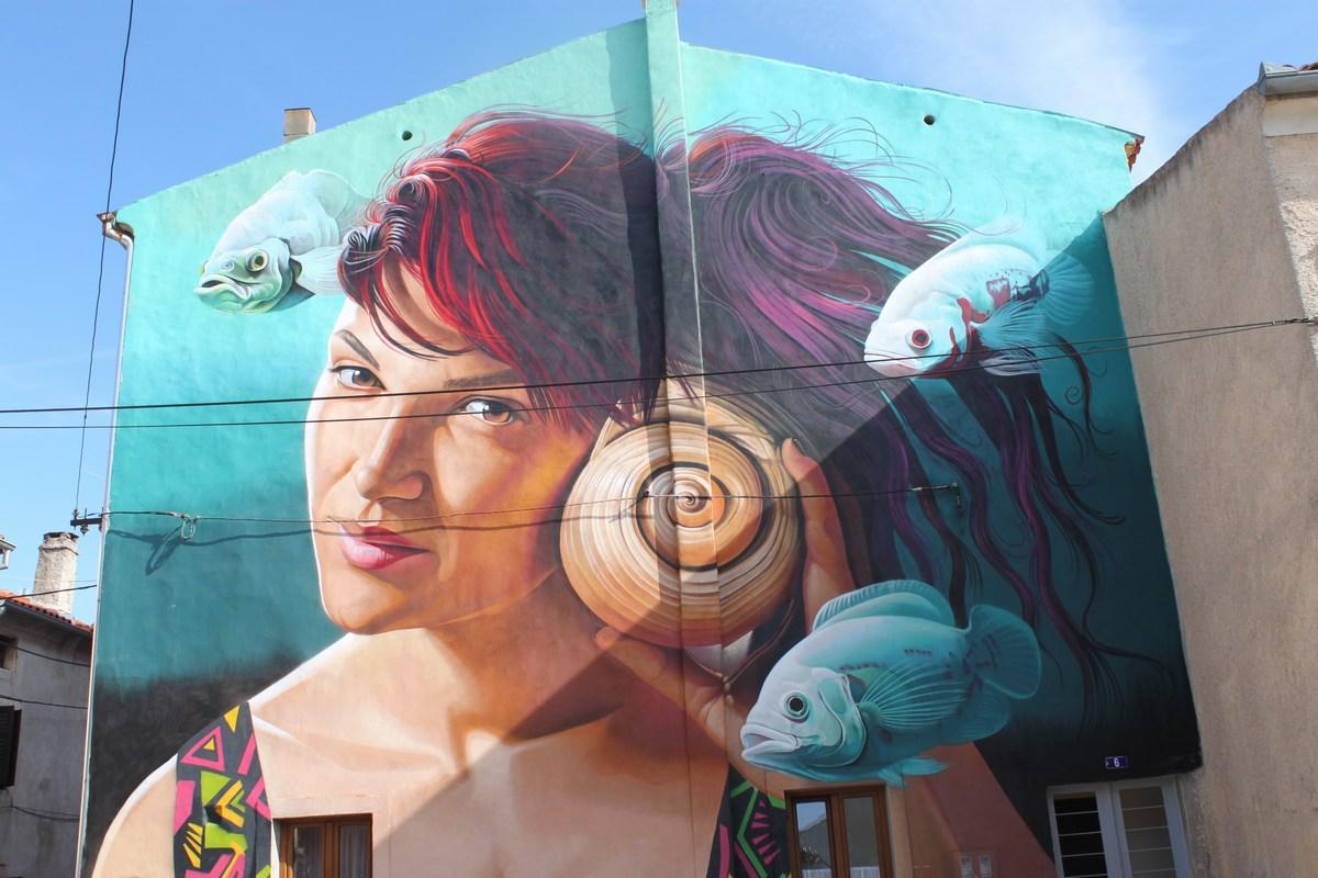 Vodnjan, mestece muralov