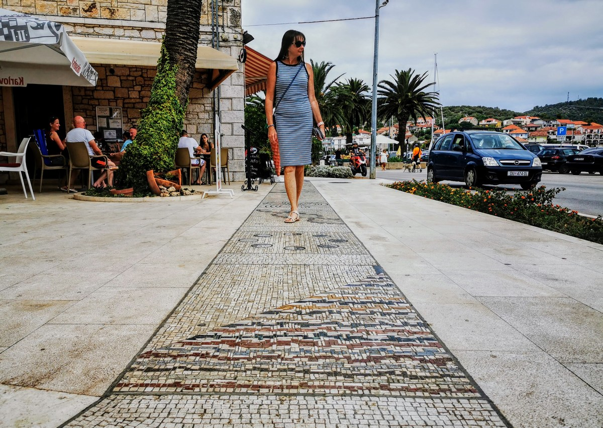 Promenada, mozaiki